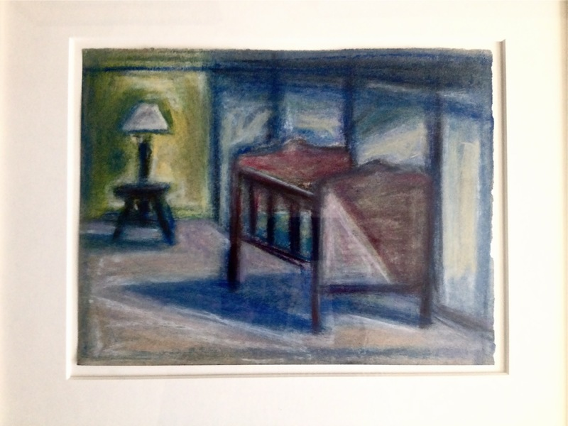 Robert G. Edelman        Art Consultant/Writer/Independent Curator     Interiors 90's Pastel, graphite on paper