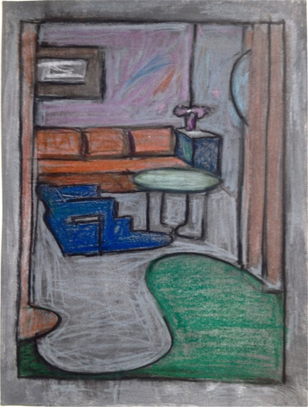 Robert G. Edelman        Art Consultant/Writer/Independent Curator     Interiors  Pastel, charcoal, graphite on paper