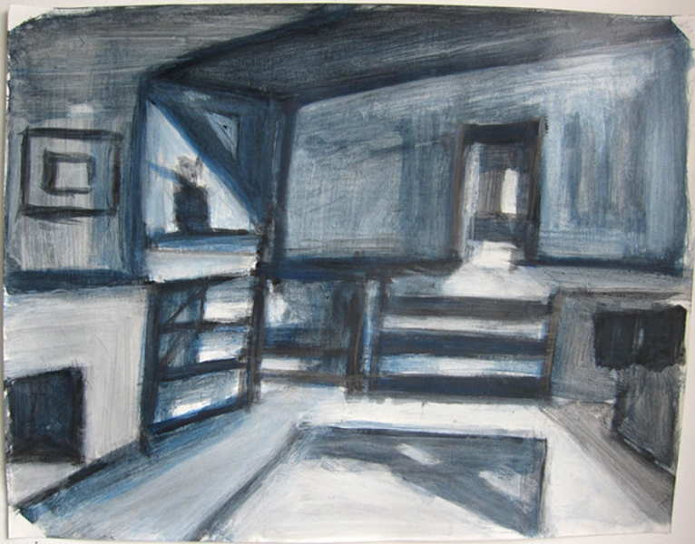 Robert G. Edelman        Art Consultant/Writer/Independent Curator     Interiors  ink, acrylic and graphite on paper