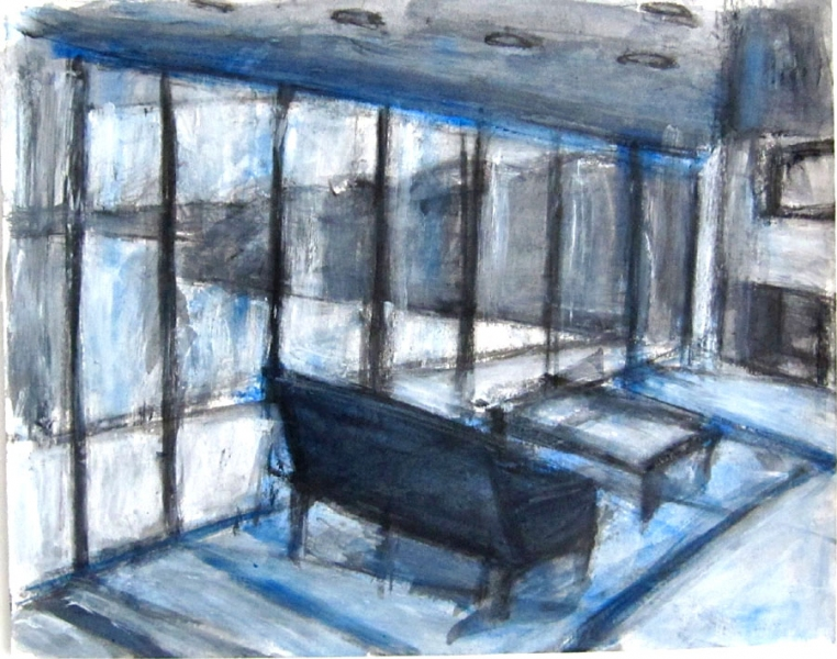Robert G. Edelman        Art Consultant/Writer/Independent Curator     Interiors  Acrylic on paper
