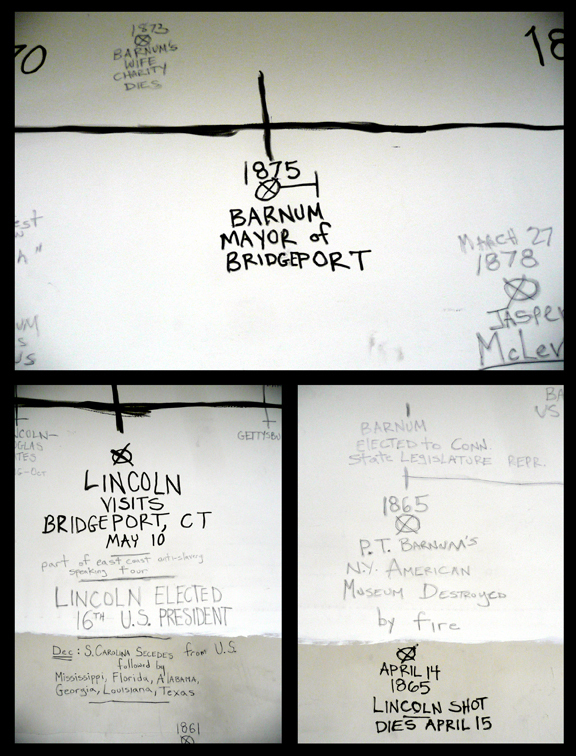 "images of installations ""The Lincoln-P.T. Barnum Debates"""