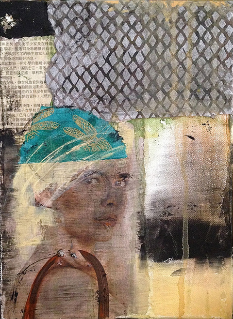 Robin S Halpern  MORE WORKS ON CANVAS mixed media on canvas