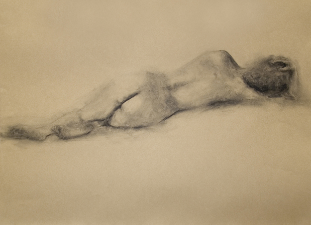 Drawing Woman Lying