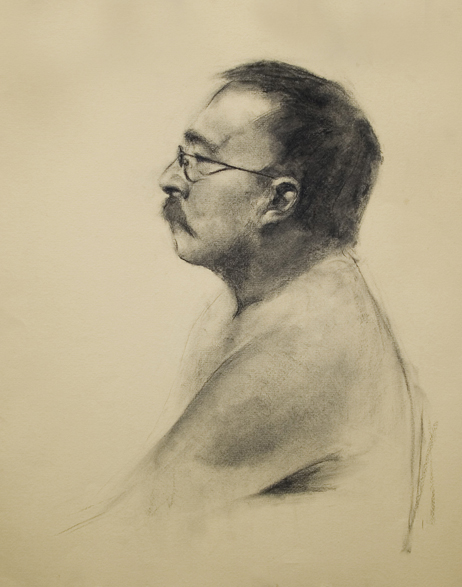 Drawing Man with Glasses