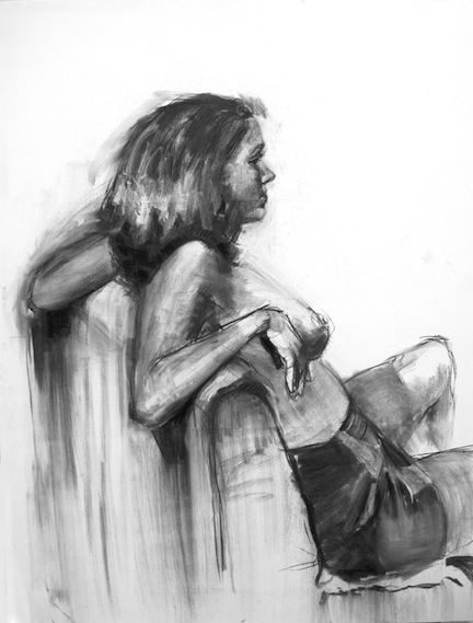 Drawing Girl Reclined