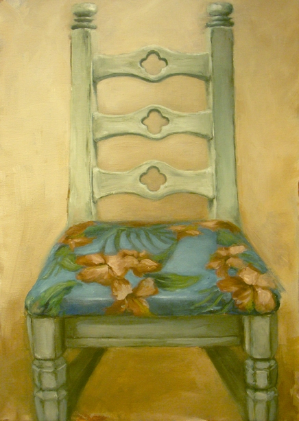 Paintings 2007-2009 Blue Chair