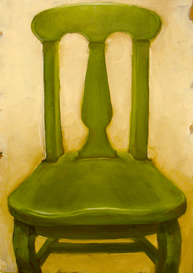 Paintings 2007-2009 Green Chair