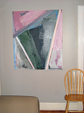 Virginia O. Roeder Collector's  Images Acrylic on canvas with canvas collage