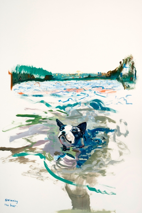 Works on paper  2000 to Present Swimming the bar.