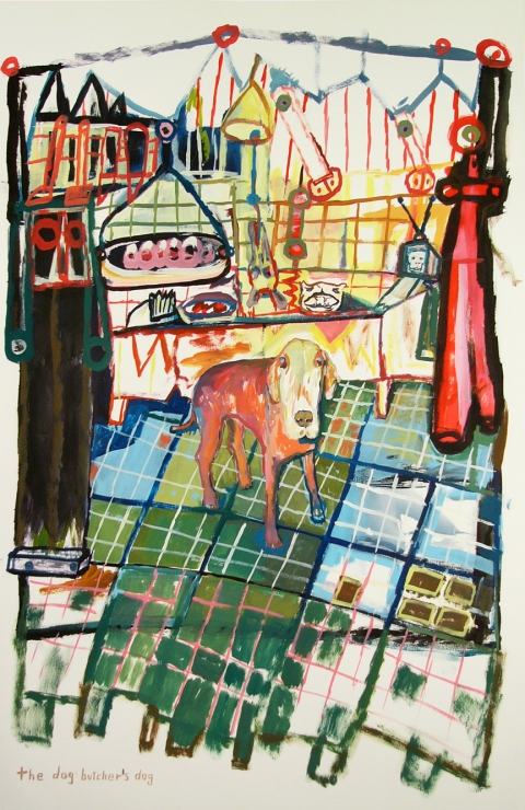 Works on paper  2000 to Present The dog butchers dog.