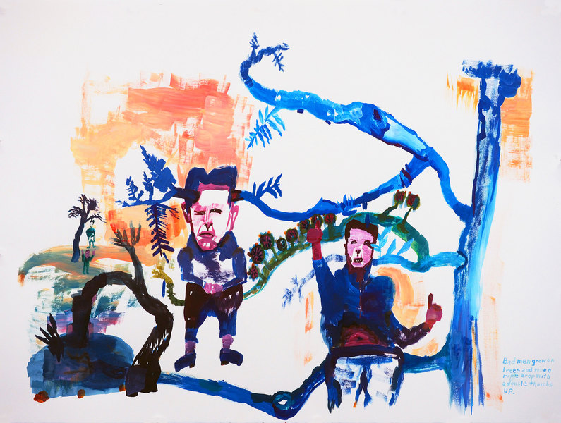 Works on paper  2000 to Present Bad men grow on trees and when ripe drop with a double thumbs up.