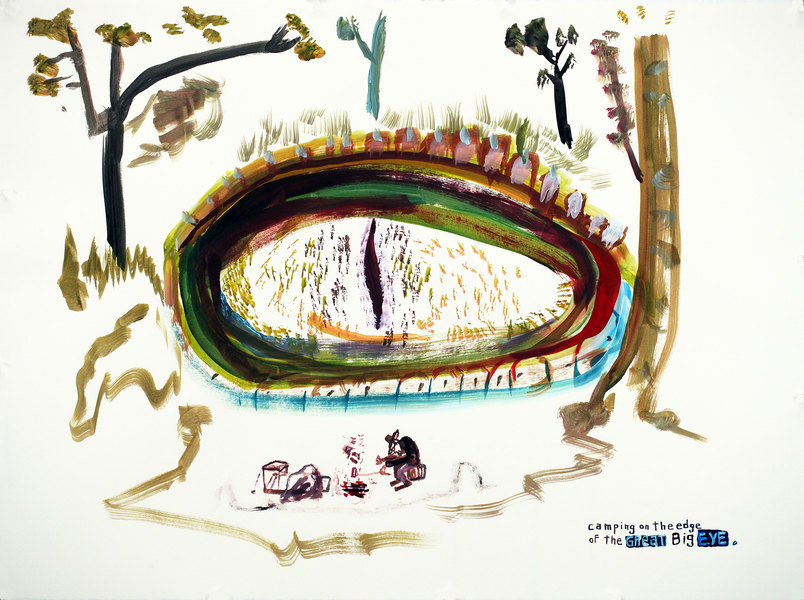 Works on paper  2000 to Present Camping on the edge of the great big eye.