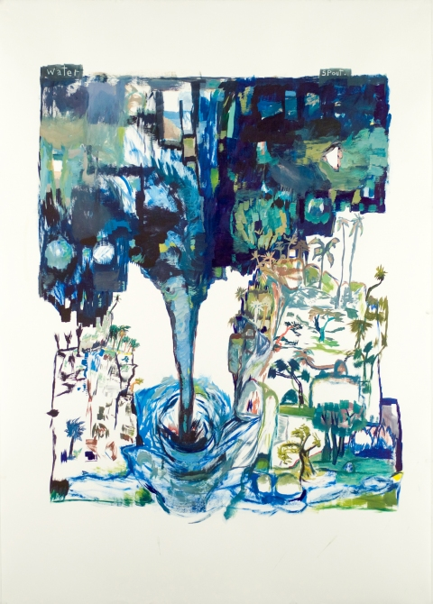 Works on paper  2000 to Present Water Spout