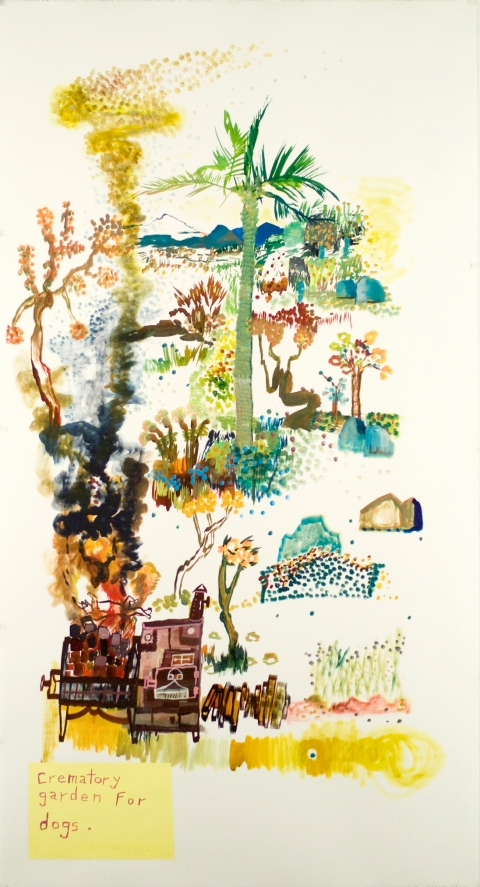 Works on paper  2000 to Present Crematory Garden For Dogs