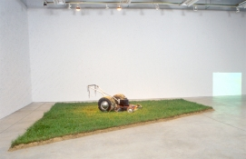 Rosemarie Fiore Lawn Mower Paintings hot-rod mower, video, sod