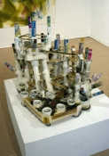 Rosemarie Fiore Solo Exhibition mixed media,  firework smoke canisters