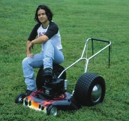 Rosemarie Fiore Studio Lawn Mower Paintings