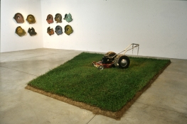 Rosemarie Fiore Lawn Mower Paintings hot-rod mower, paintings, sod