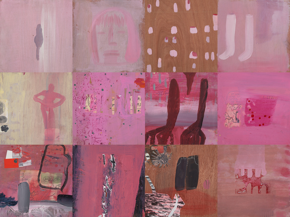 Roxanne Faber Savage Castlehill Truro, MA/paintings:Full on Girl mixed media acrylic paintings