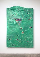 RYAN SARTIN Paintings Acrylic and plastic over fabric stuffed with blankets