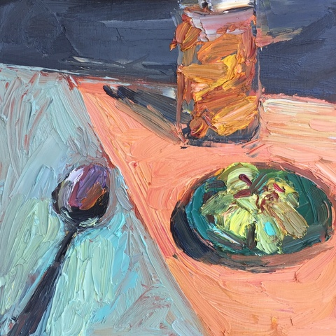Roz Sommer Still Life oil on board