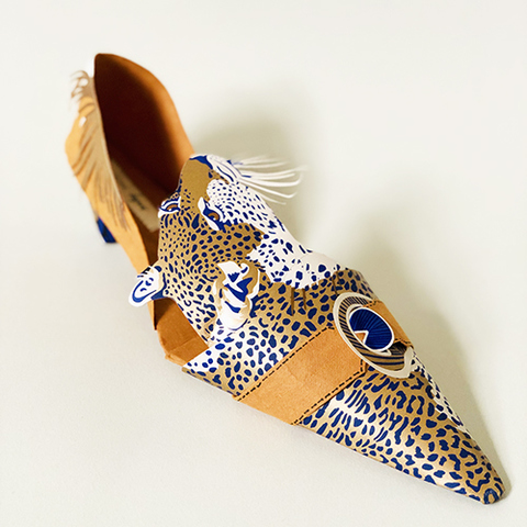 Paper Shoes Snow Leopard