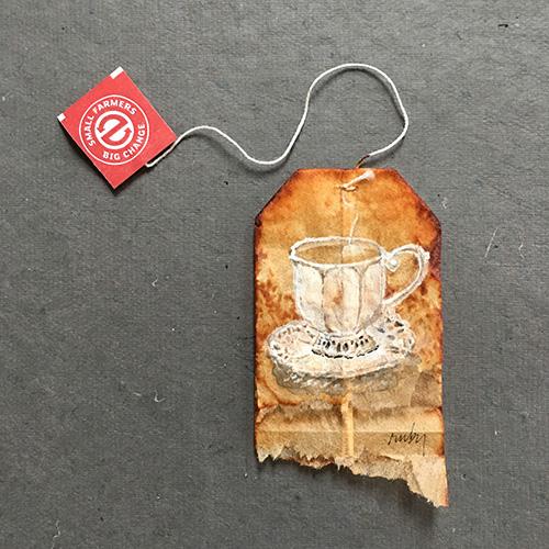 RUBY SILVIOUS : Tea Bag Art : 26 Days of Tea in France (2017)