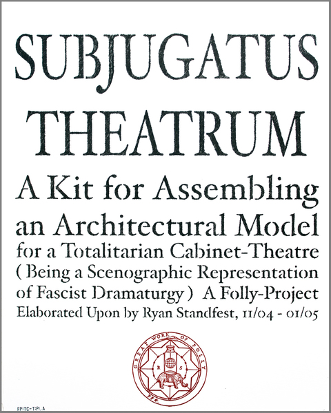 archive Totalitarian Cabinet Theatre: Frontispiece