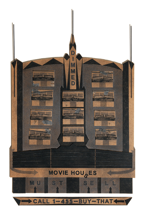 painting + drawing Black Marquee No. 1: Movie Houses