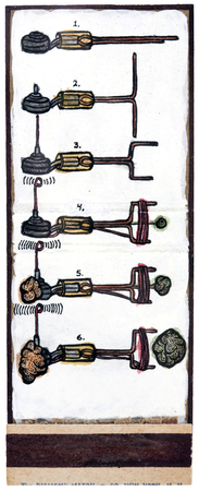 archive watercolor, ink + gesso on matchbook cover