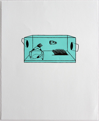 archive two-color relief
