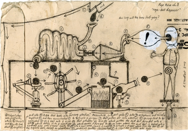 archive graphite and correction fluid on used file folder fragment