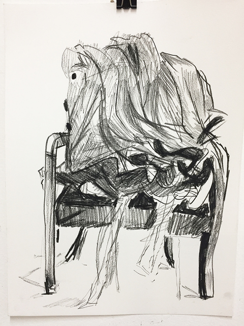 ryan syrell drawings conte on rag paper