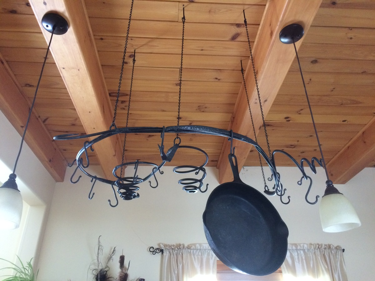 Architectural Pot Rack