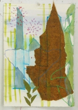 Sally Bowring Works on Paper collage hand-made paper