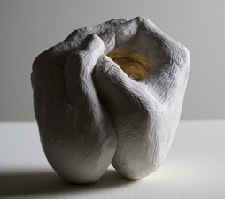 Samantha Russell Sculptures Ceramic, Brass Powder, Wax