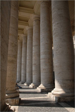 Photography Columns at St. Peter's