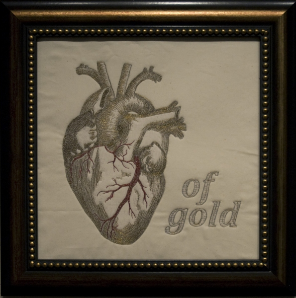 Embroidery Heart of Gold