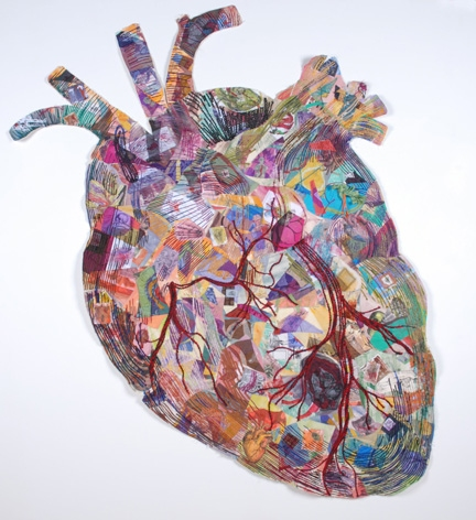 Collage Enlarged Heart