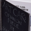 Art Car Metal cover, chalkboard paint, chalk, photographic paper, archival ink.