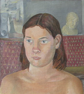 Sam Thurston Portraits oil on burlap