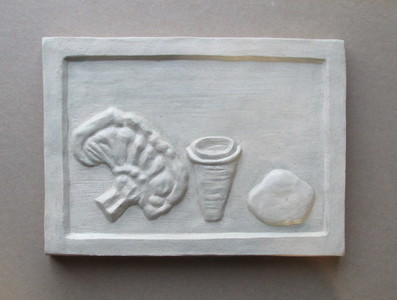 Sam Thurston Shadowboxes and Other Experimental Relief Ideas glazed clay