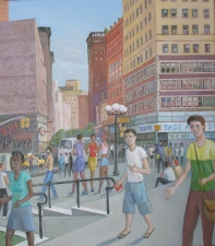 Sam Thurston 14th Street painting and studies o/c