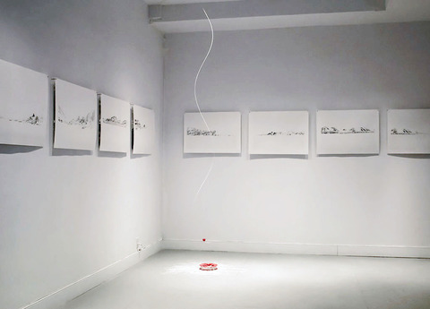 String Theory: Possible Probabilities, 2014 Partial Installation view of Polar Vortex with Paper Cuttings.