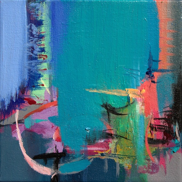 """ABSTRACT SPACE"" A STUDY OF SPACE IN TURQUOISE"