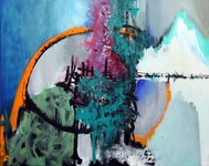 Sandra Vucicevic ABSTRACT SPACE Acrylic on canvas