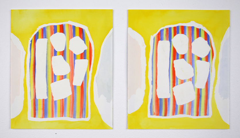 SARA BRIGHT Paper gouache on paper