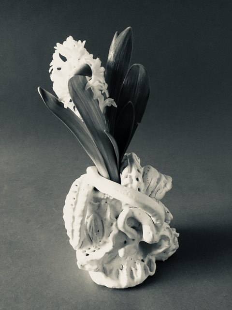 Bronze + Clay  Entwined (with Hyacinth)