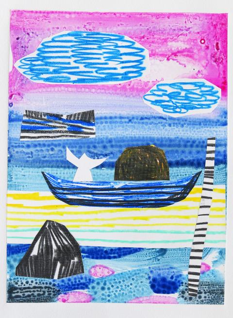 Monoprints 2018 A.M. Boatman