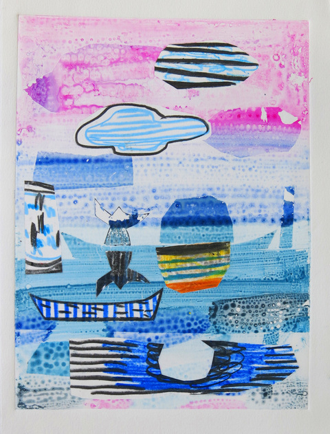 Monoprints 2018 P.M. Boatman